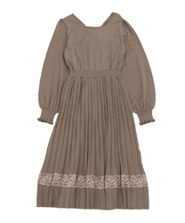Back design knit dress(Mocha-Free)