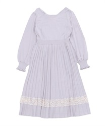 Back design knit dress(Lavender-Free)