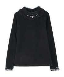 Neck design rib pullover(Black-Free)