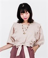 2WAY Momonga Blouse(Beige-Free)