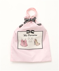Silhouette Clothes storage purse(Pale pink-M)