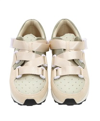 Belt design sneakers(Beige-S)