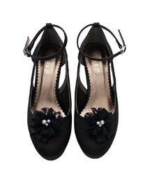 PT Pumps with elegant Kosa(Black-M)