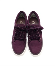 Velor Ribbon sneakers(Purple-M)