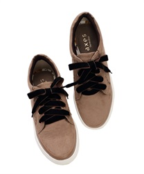 Velor Ribbon sneakers(Beige-M)