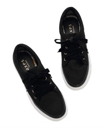 Velor Ribbon sneakers(Black-M)