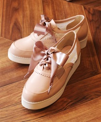 Lace sneakers(Pale pink-S)