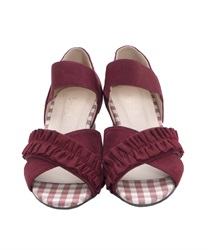 Cross-belt wedge sandals(Wine-M)