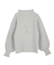 Volume sleeve knit(Grey-Free)