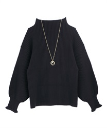 Volume sleeve knit(Black-Free)