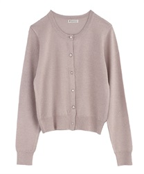 Cardigan with Variate Button Decoration(Pale pink-M)