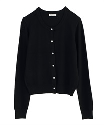 Cardigan with Variate Button Decoration(Black-M)
