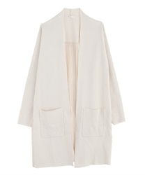 Back pleated cardigan(Ecru-Free)