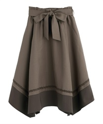 Classic Irregular Hem Skirt(Brown-Free)