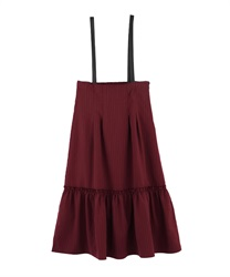 Leather suspension with high WaistSkirt(Wine-Free)