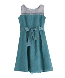 Lace bonding dress(Green-Free)