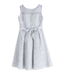 Lace bonding dress(Grey-Free)