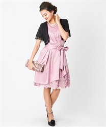Asymmetric hem Lace dress