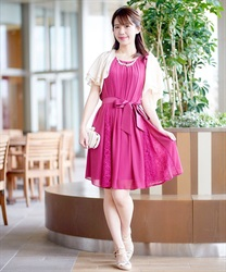 A line 2WAY dress(DarkPink-Free)