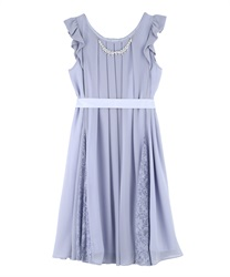 A line 2WAY dress(Saxe blue-Free)