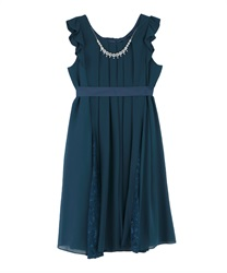 A line 2WAY dress(Blue green-M)