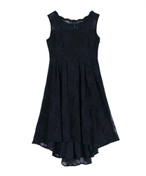 Lace fish tail dress(Navy-Free)