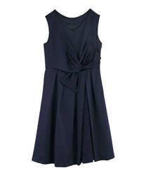 WaistRibbon dress(Navy-Free)