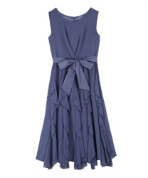 Ruffle Skirt dress(Blue-Free)