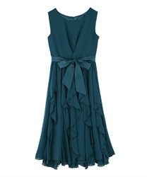 Ruffle Skirt dress(Dark green-Free)