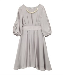 Tuck design dress(Grey-Free)
