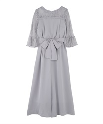 Shoulder Lace combi ne Dzong dress(Grey-Free)