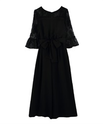 Shoulder Lace combi ne Dzong dress(Black-Free)