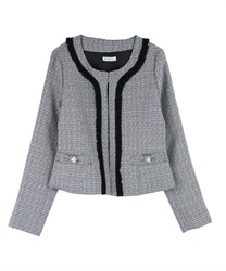 Feminine Designed Tweed Blazer