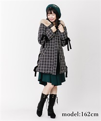 Lace-up eco down coat
