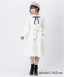 Robe style design coat(Ecru-Free)