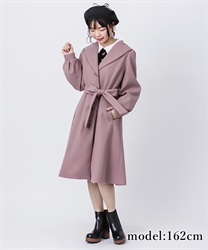 Robe style design coat(DarkPink-Free)