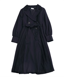 Double-Brested Long Length Dress(Navy-M)