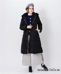 Long lace down coat(Black-M)