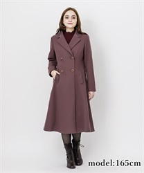 Classic long coat(DarkPink-M)