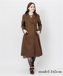 Classic long coat(Dark brown-M)