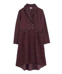 Lace jacket coat(Wine-Free)
