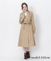 Double breast flare coat(Beige-Free)