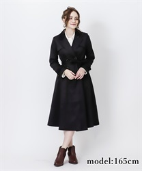 Double breast flare coat(Black-Free)