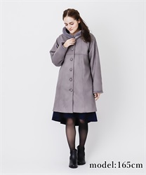 Fur suede coat(Grey-Free)