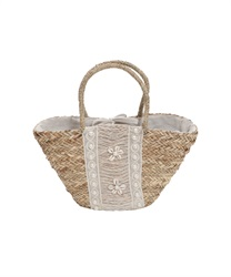 【2Buy20%OFF】Shell and Lace Truss Bag(Beige-M)