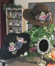 Flower Bouquet Wide Brim Hat