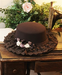 Roses garden straw hat(Brown-M)