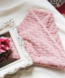 Heart fur snood(Pale pink-M)