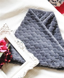 Heart fur snood(Grey-M)