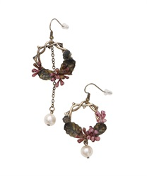 Botanical Motif Earrings(Purple-M)